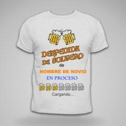 camiseta despedida de soltero tema cerveza