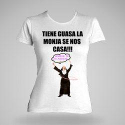 Camiseta despedida personalizada con la monja loca