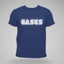 Camiseta gases logo sega con letras blancas