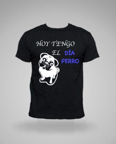 Camiseta personalizada tengo el dia perro graciosas