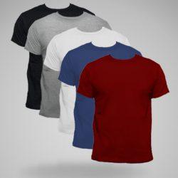 pack 5 camisetas económicas