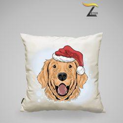 Cojín Perro navideño