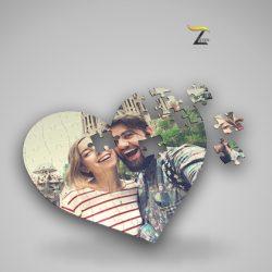 Puzzle personalizado con forma de corazón