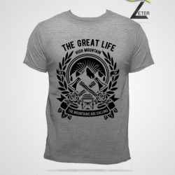 Camiseta Hombre color gris The great life