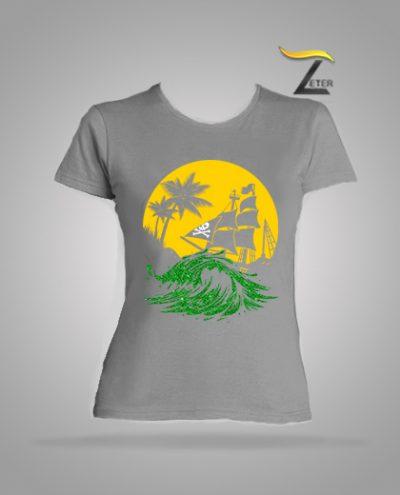 Camisetas verano mujer en Gris