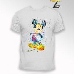 Camiseta Blanca mickey en pintura