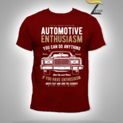 Camiseta Automotive Enthusiasm Roja