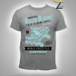 Camiseta Roller Blading Gris