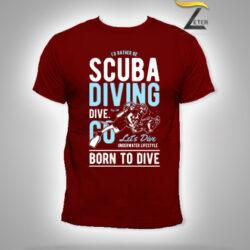 Camiseta Scuba Diving Roja