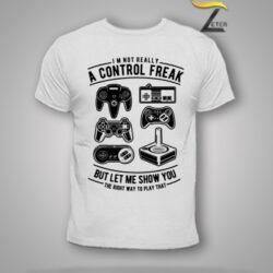 Camiseta control freak Blanca