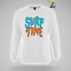 Sudadera Personalizada Blanca Surf Time